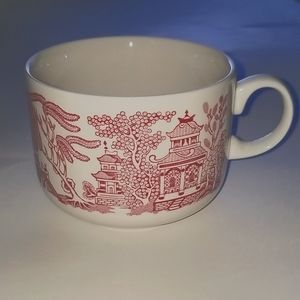 Churchill England Willow Rosa Pink China Tea Cup